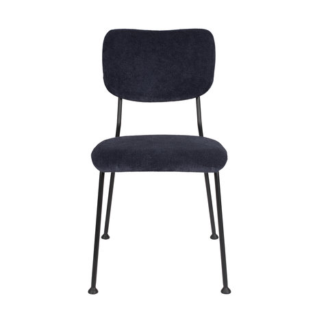 Zuiver Dining room chair Benson dark blue textile 55,5x56x81cm