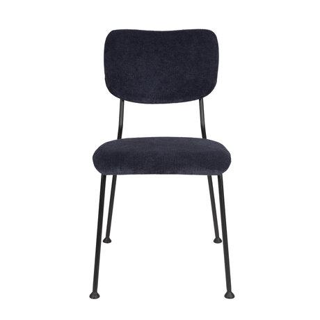 Zuiver Esszimmerstuhl Benson dunkelblau Textil 55,5x56x81cm