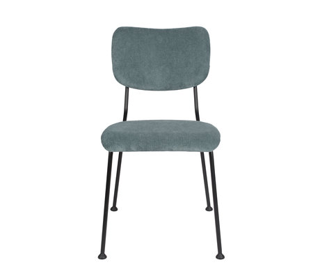 Zuiver Dining room chair Benson gray blue textile 55,5x56x81cm