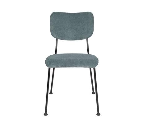 Zuiver Eetkamerstoel Benson grijs blauw textiel 55,5x56x81cm