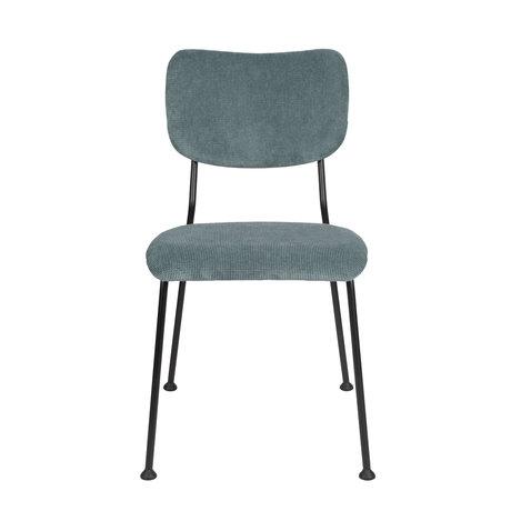 Zuiver Esszimmerstuhl Benson grau blau Textil 55,5x56x81cm