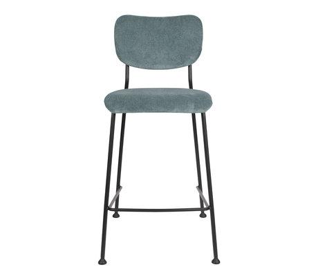 Zuiver Barstool Counter Benson gray blue textile 46x53.5x92cm