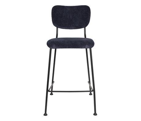 Zuiver Barstool Counter Benson dark blue textile 46x53.5x92cm