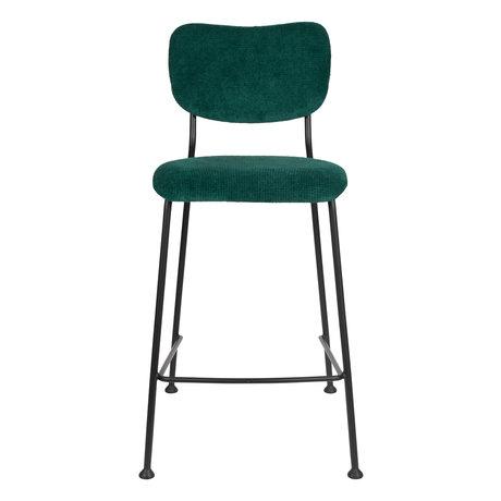 Zuiver Barkruk Counter Benson groen textiel 46x53,5x92cm