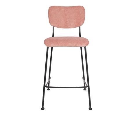 Zuiver Barkruk Counter Benson roze textiel 46x53,5x92cm
