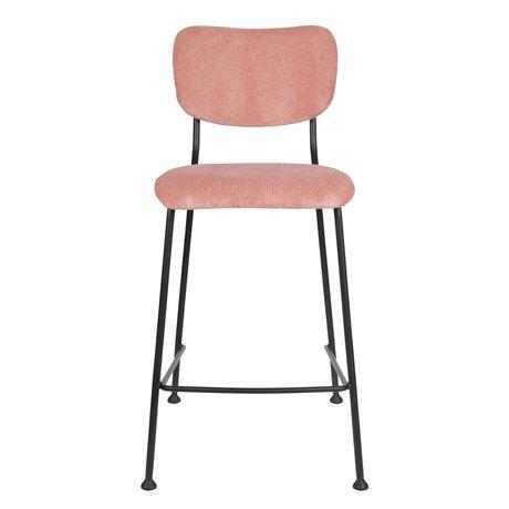Zuiver Barstool Counter Benson pink textile 46x53.5x92cm