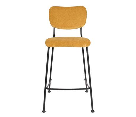 Zuiver Barstool Counter Benson ocher yellow textile 46x53.5x92cm