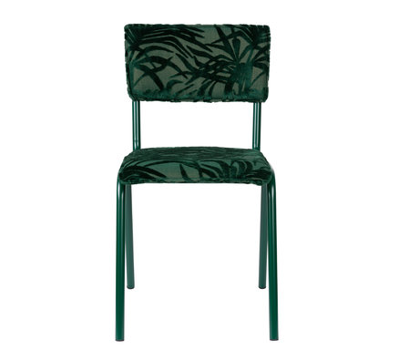 Zuiver Esszimmerstuhl Zurück zu Miami Palm Tree grün Textil 43,5x49x82,5cm