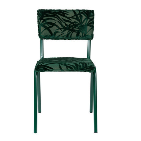 Zuiver Dining room chair Back to miami Palm Tree green textile 43,5x49x82,5cm