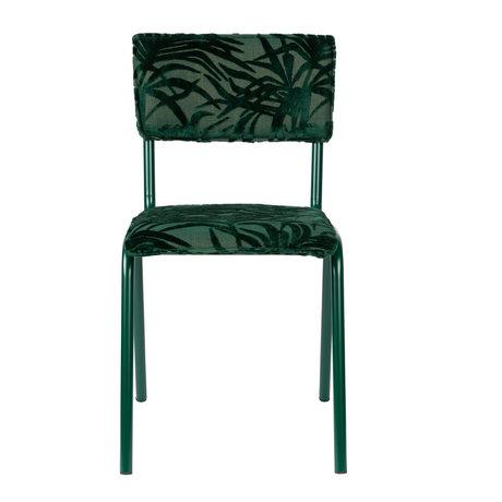Zuiver Eetkamerstoel Back to miami Palm Tree groen textiel 43,5x49x82,5cm