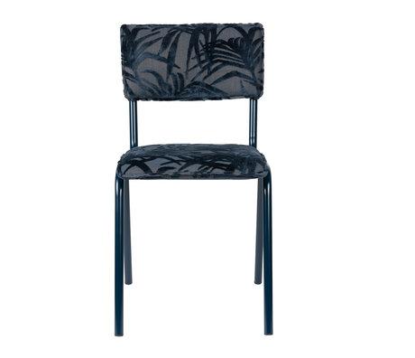 Zuiver Eetkamerstoel Back to miami Midnight blauw textiel 43,5x49x82,5cm
