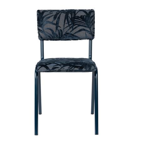 Zuiver Chaise de salle à manger Retour à Miami Midnight blue textile 43.5x49x82.5cm