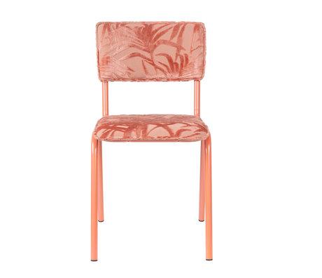 Zuiver Eetkamerstoel Back to miami Flamingo roze textiel 43,5x49x82,5cm