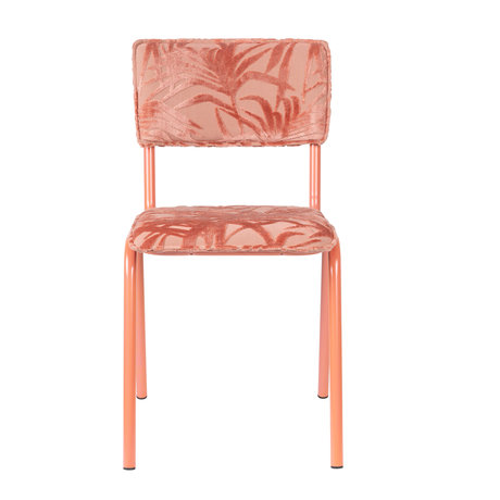 Zuiver Esszimmerstuhl Back to Miami Flamingo rosa Textil 43.5x49x82.5cm