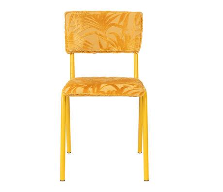 Zuiver Esszimmerstuhl Back to Miami Sunset gelb Textil 43.5x49x82.5cm