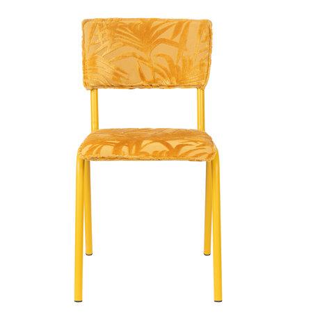 Zuiver Eetkamerstoel Back to miami sunset geel textiel 43,5x49x82,5cm