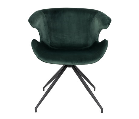 Zuiver Eetkamerstoel Mia groen textiel 63x62x78,5cm