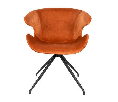 Zuiver Esszimmerstuhl Mia orange Textil 63x62x78.5cm