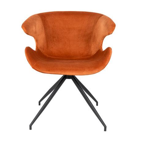 Zuiver Eetkamerstoel Mia oranje textiel 63x62x78,5cm