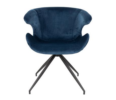 Zuiver Chaise de salle à manger Mia bleu textile 63x62x78.5cm