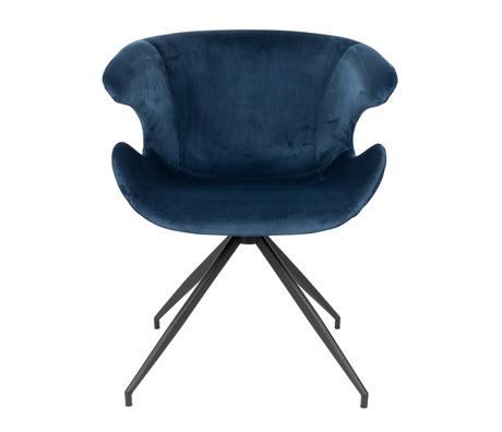 Zuiver Dining room chair Mia blue textile 63x62x78.5cm