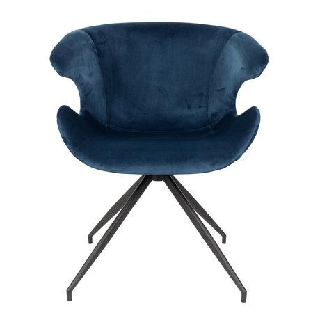 Zuiver Esszimmerstuhl Mia blau Textil 63x62x78.5cm