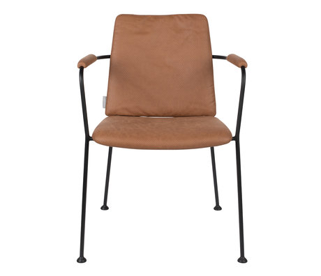 Zuiver Dining room chair with armrest Fab brown polyester 48x56x79cm