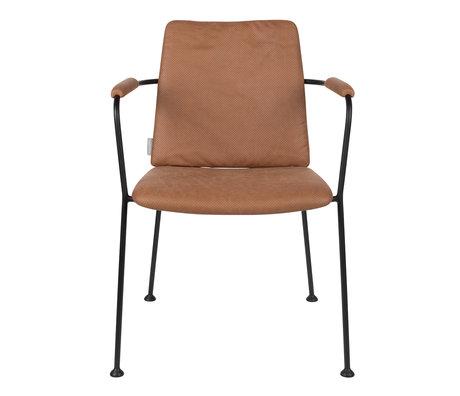 Zuiver Esszimmerstuhl mit Armlehne Fab braun Polyester 48x56x79cm