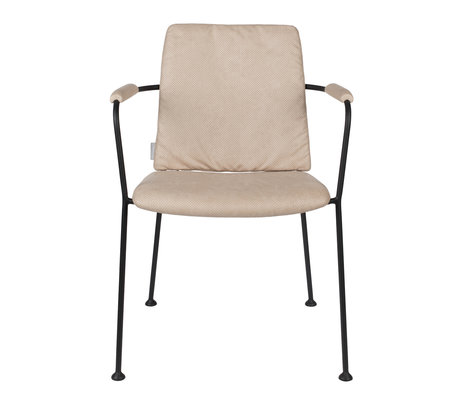 Zuiver Dining room chair with armrest Fab beige polyester 48x56x79cm