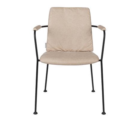 Zuiver Eetkamerstoel met armleuning Fab beige polyester 48x56x79cm