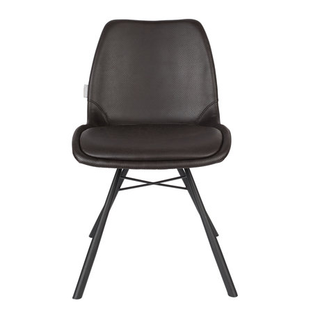 Zuiver Dining room chair Brent Air black polyester 48x56.5x79.5cm