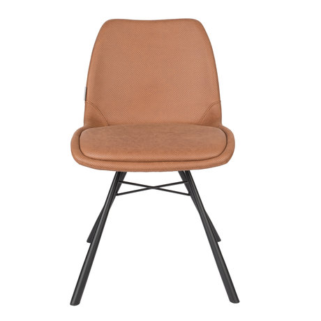 Zuiver Dining room chair Brent Air brown polyester 48x56.5x79.5cm