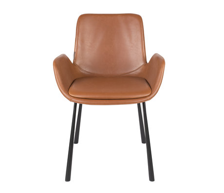 Zuiver Dining room chair Brit brown Pu leather 59x62x79cm
