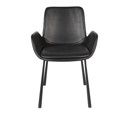 Zuiver Dining room chair Brit black Pu leather 59x62x79cm
