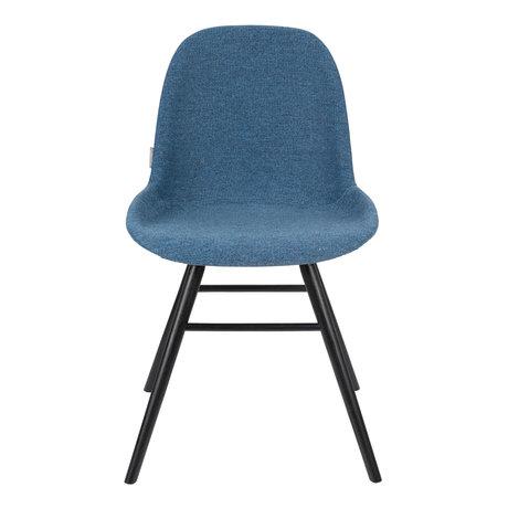 Zuiver Chaise de salle à manger Albert Kuip Soft textile bleu 49x55x81.5cm