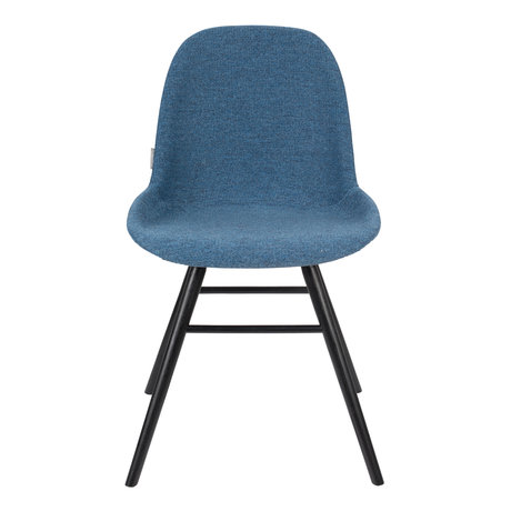 Zuiver Dining room chair Albert Kuip Soft blue textile 49x55x81.5cm