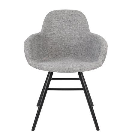 Zuiver Chaise de salle à manger avec accoudoir Albert Kuip Soft textile gris clair 49x55x81.5cm