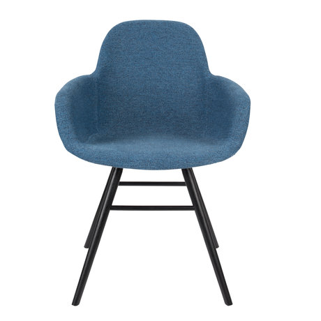 Zuiver Dining room chair with armrest Albert Kuip Soft blue textile 49x55x81.5cm