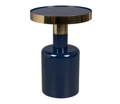 Zuiver Bijzettafel Glam blauw metaal Ø36x51cm