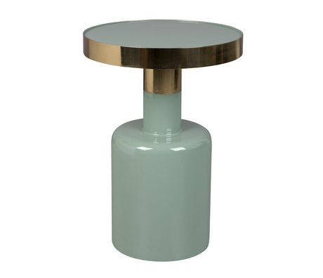 Zuiver Side table Glam green metal Ø36x51cm