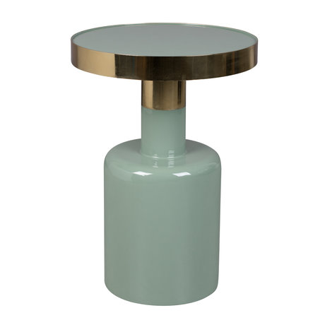 Zuiver Bijzettafel Glam groen metaal Ø36x51cm
