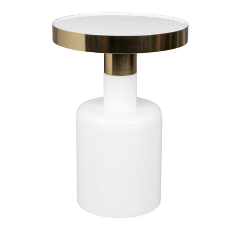 Zuiver Side table Glam white metal Ø36x51cm
