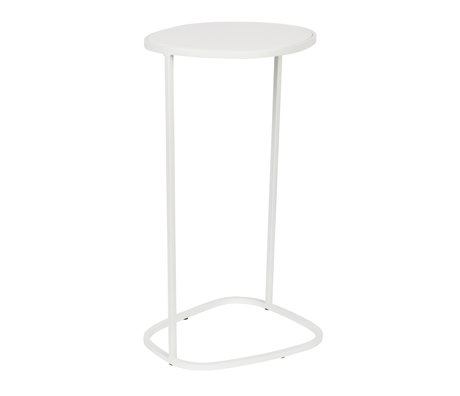Zuiver Table d'appoint Moondrop Single en métal blanc 25.5x21.5x51cm