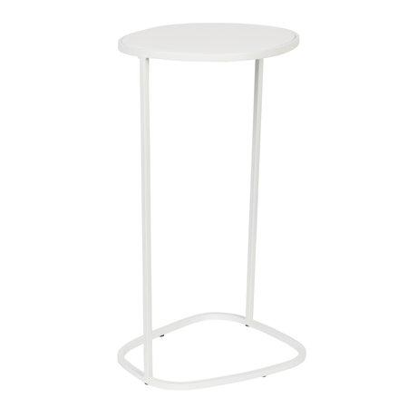 Zuiver Beistelltisch Moondrop Single Weißmetall 25,5x21,5x51cm