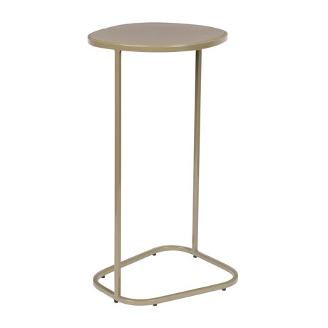 Zuiver Side table Moondrop Single clay metal 25.5x21.5x51cm