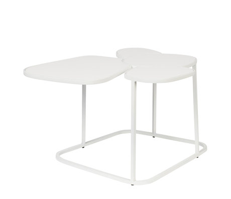 Zuiver Table d'appoint Moondrop Multi en métal blanc 59.5x48.5x34.5cm