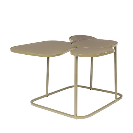 Zuiver Side table Moondrop Multi clay metal 59.5x48.5x34.5cm
