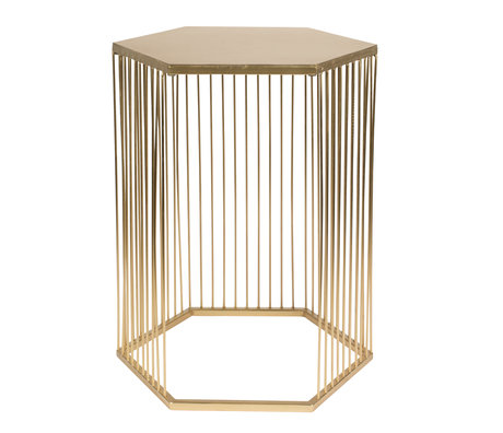 Zuiver Table d'appoint Queenbee en métal doré 40.5x35.5x50.5cm