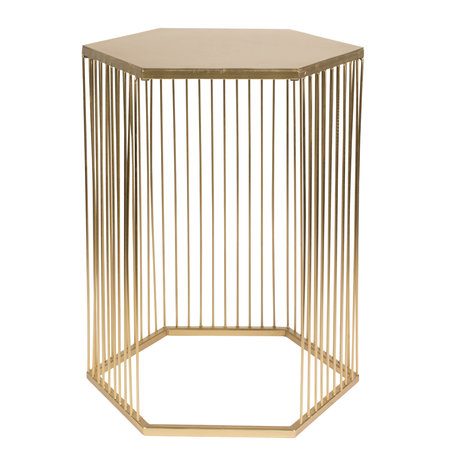 Zuiver Side table Queenbee gold metal 40.5x35.5x50.5cm