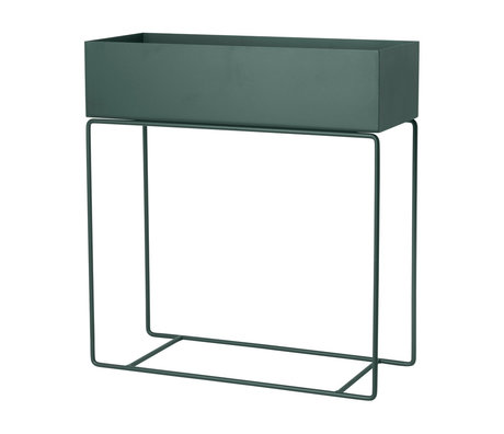 Ferm Living Box for plant dark green metal 60x25x65cm
